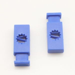 Bag toggles, Plastic, blue, 2.7cm x cm x 0.3cm, 4  pieces, (PCK008)